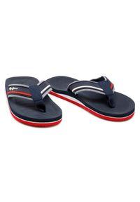 Pepe Jeans - Japonki PEPE JEANS - South Beach PMS70106 Navy 595. Okazja: na plażę. Kolor: niebieski. Materiał: materiał. Sezon: lato