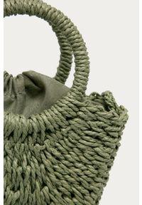 Zielona torba plażowa ANSWEAR na ramię, wakacyjna