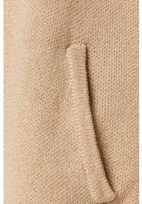 Beżowy sweter rozpinany Morgan na co dzień, casualowy