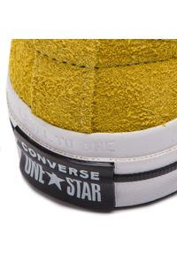 Żółte półbuty casual Converse z cholewką