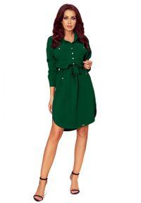 Zielona sukienka Numoco szmizjerki