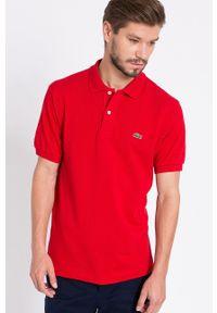Lacoste - T-shirt. Okazja: na co dzień. Kolor: czerwony. Materiał: dzianina. Wzór: gładki. Styl: casual