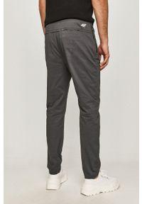 4f - 4F - Spodnie. Okazja: na co dzień. Kolor: szary. Styl: casual