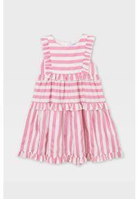 Różowa sukienka Mayoral oversize