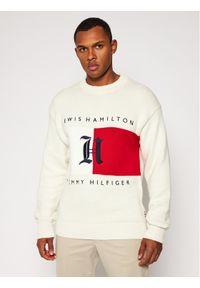Beżowy sweter klasyczny TOMMY HILFIGER