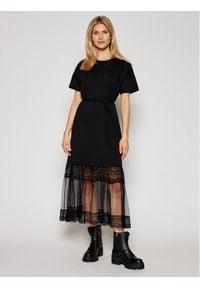 Czarna sukienka TwinSet casualowa, prosta, na co dzień