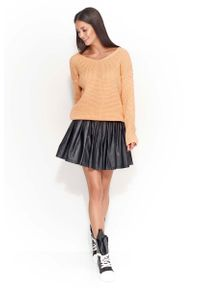 Pomarańczowy sweter oversize Makadamia