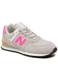 Szare sneakersy z cholewką, na co dzień, New Balance 574