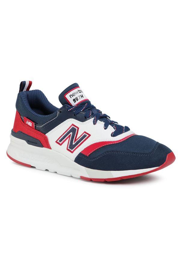 Niebieskie buty sportowe New Balance z cholewką