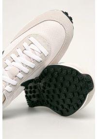 Beżowe sneakersy Nike Sportswear z cholewką, na sznurówki, z okrągłym noskiem