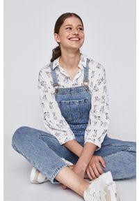 Niebieskie ogrodniczki jeansowe medicine