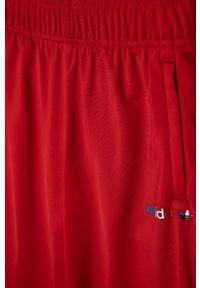 Czerwone spodnie dresowe adidas Originals casualowe, na co dzień, gładkie