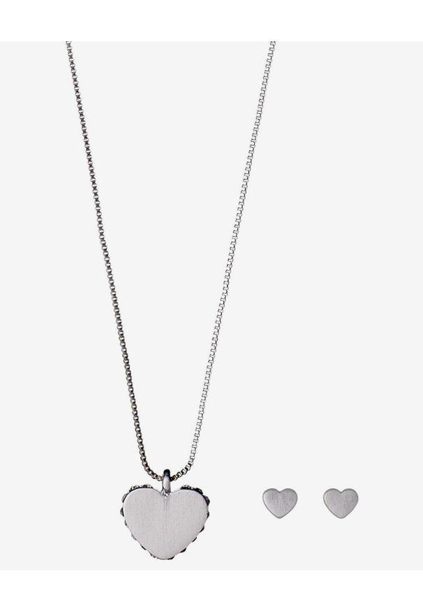 Srebrny naszyjnik Pilgrim w kolorowe wzory, z kryształem, z mosiądzu