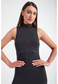 Emporio Armani Swimwear - SUKIENKA EMPORIO ARMANI SWIMWEAR. Długość rękawa: bez rękawów. Typ sukienki: proste. Długość: maxi