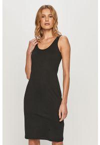 Czarna sukienka Brave Soul casualowa, prosta, na ramiączkach