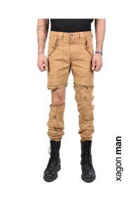 Xagon Man Spodnie. Okazja: na co dzień. Materiał: tkanina. Styl: casual