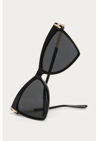 Czarne okulary przeciwsłoneczne Answear Lab gładkie