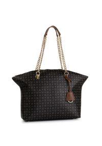 Czarna torebka klasyczna Pollini skórzana, klasyczna