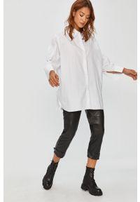 Czarne spodnie materiałowe Answear Lab z podwyższonym stanem, wakacyjne