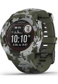 GARMIN - Zegarek sportowy Garmin Instinct Solar Camo Szaro-zielony (010-02293-06). Kolor: zielony, wielokolorowy, szary. Styl: sportowy