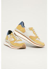 Sneakersy Guess na sznurówki, z okrągłym noskiem, do biegania