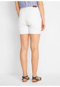 Szorty dżinsowe ze stretchem bonprix biały. Kolor: biały #7