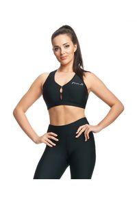 "FJ! - Stanik sportowy Push-up ""Spin"" - black. Materiał: poliester, guma, elastan. Rodzaj stanika: push-up. Sport: fitness"
