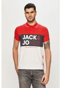 Czerwona koszulka polo Jack & Jones krótka, na co dzień, polo, casualowa