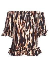 Born2be - Brązowa Bluzka Chafe. Kolor: brązowy