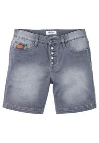 Długie szorty dżinsowe ze stretchem Regular Fit bonprix jasnoszary denim. Kolor: szary. Długość: długie