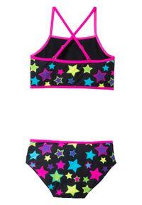 Bikini dziewczęce (2 części) bonprix czarny z nadrukiem. Kolor: czarny. Wzór: nadruk