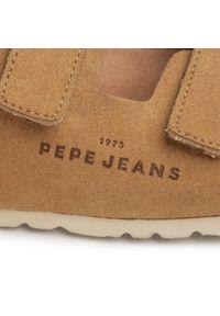 Brązowe sandały Pepe Jeans na lato