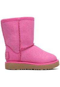 Różowe buty zimowe Ugg z cholewką