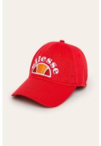 Czerwona czapka z daszkiem Ellesse z aplikacjami