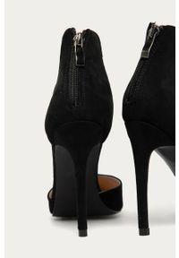 Czarne sandały Answear Lab na średnim obcasie, na obcasie, wakacyjne