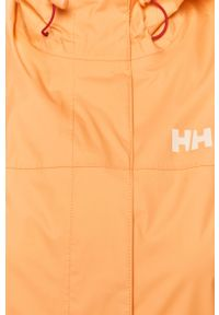 Pomarańczowa kurtka Helly Hansen na co dzień, z kapturem, casualowa