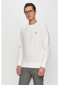 Polo Ralph Lauren - Bluza bawełniana. Okazja: na co dzień. Typ kołnierza: polo. Kolor: biały. Materiał: bawełna. Styl: casual