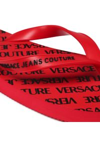 Versace Jeans Couture - Japonki VERSACE JEANS COUTURE - E0YWASQ7 71940 500. Kolor: czerwony. Materiał: materiał