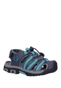 Niebieskie sandały Casu na lato, na rzepy