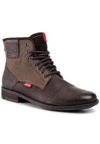 Brązowe buty zimowe Levi's® z cholewką, eleganckie