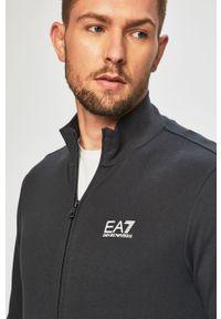 Szara bluza rozpinana EA7 Emporio Armani bez kaptura