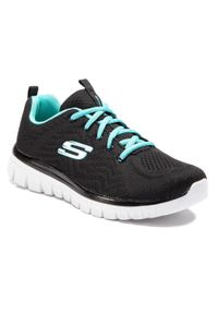 Czarne buty do fitnessu skechers z cholewką