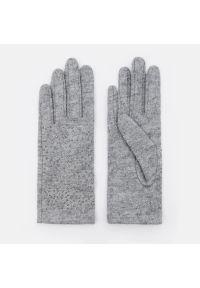 Mohito - Rękawiczki z wełną - Jasny szary. Kolor: szary. Materiał: wełna