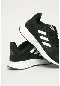 Czarne buty sportowe Adidas z cholewką, na sznurówki