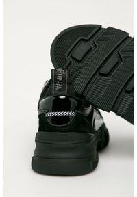 Czarne sneakersy Wrangler z cholewką, na sznurówki