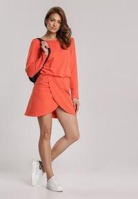 Renee - Pomarańczowa Sukienka Viviany. Kolor: pomarańczowy