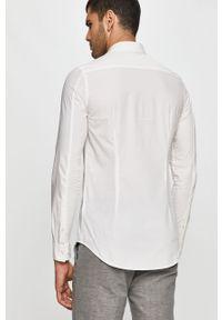 Biała koszula Calvin Klein Jeans na co dzień, casualowa, z klasycznym kołnierzykiem