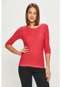 Różowy sweter Morgan na co dzień, casualowy