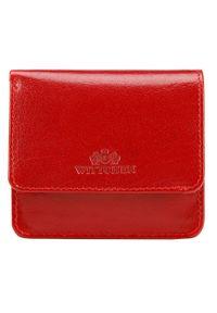 Wittchen - Damski portfel skórzany mini. Kolor: czerwony. Materiał: skóra