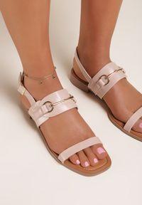 Renee - Różowe Sandały Thoniliana. Kolor: różowy